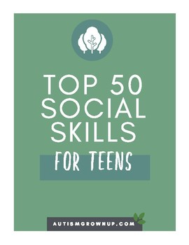 Top 50 Social Skills for Teens on the Autism Spectrum