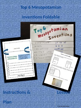 Top 6 Ancient Mesopotamian Inventions Foldable Project