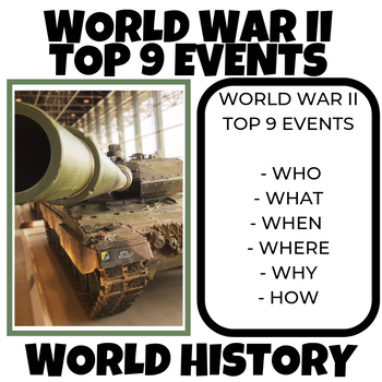 Top 9 events of World War II Lesson