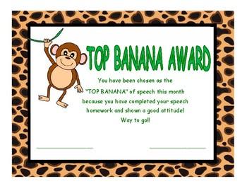 Top Banana Speech Award