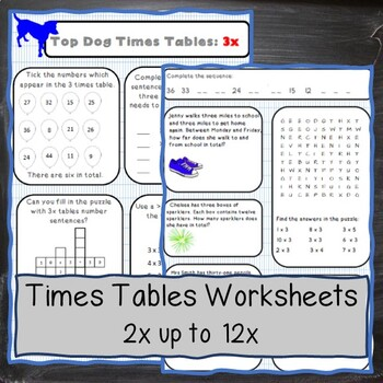 Multiplication Tables:A range of exciting & challenging activities from 2 to 12x