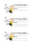 Top Dog Note Home (Peanuts Classroom Behavior Management)