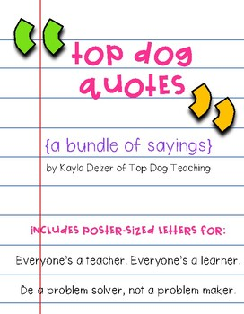 Top Dog Quotes {a bundle of sayings}