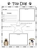 """""""Top Dog"""" student of the week poster (dog theme)"""