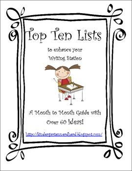 Top Five or Ten Lists Ideas
