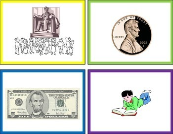 Abraham Lincoln - Matching and Writing Activity (Top Hat Facts)