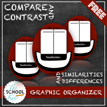 Compare and Contrast- Top Hat Graphic Organizer