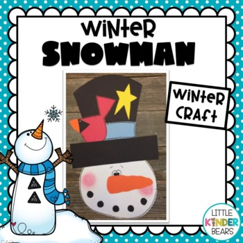 Top Hat Snowman & Writing Activities: Winter Craft: January