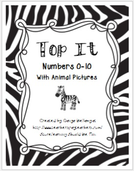 Top It 0-10 with pictures (Animal Themed)