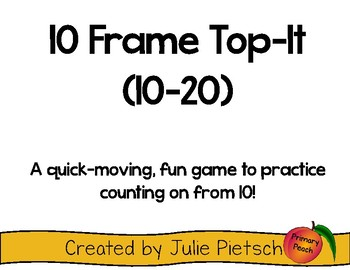 Top-It 10 Frame-Counting on from 10 (Numbers 10-20)