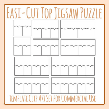 Top Matching Easi-Cut Jigsaw Puzzle Template Clip Art Commercial Use
