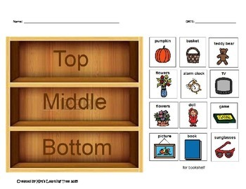 Top, Middle, Bottom Preposition Bookcase