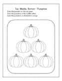 Top Middle Bottom - Pumpkins