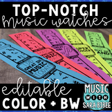 Top-Notch Music Watches: Classroom Incentive Bracelets {Color + B/W}