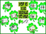 Top O' the Treble St. Patrick's Day Pitch Reading Bulletin Board