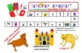 Top Pet:  Preschool to Kindergarten Letter Sound/Recogniti