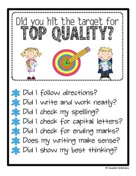 Top Quality Target- Writing FREEBIE