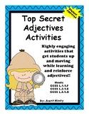 Top Secret Adjective Activities  Printables, SCOOT Activity, and More  No Prep