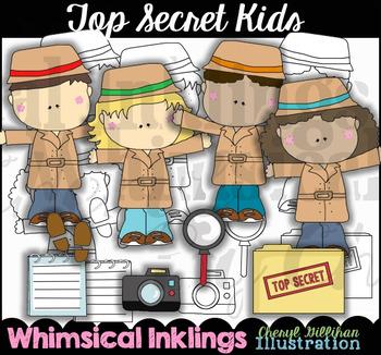 Top Secret Kids Clipart Collection