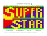 Color By Code Top Secret Math Addition Sums 0-10 Superstar
