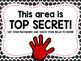 Top Secret Password Pages for Recognition
