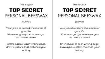 Junie B. Jones Top Secret Personal Beeswax Journal