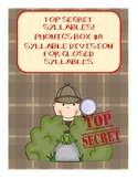 Top Secret - Phonics Box #8 - Closed Syllable Division