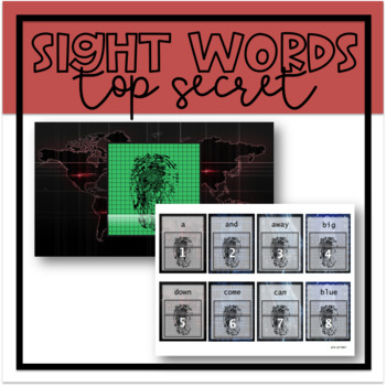 Top Secret Sight Words