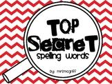 Top Secret Spelling Words