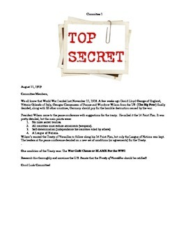 Top Secret: The Treaty of Versailles Group Activity
