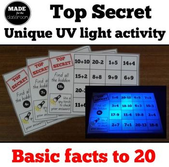 Top Secret - UV light activity, addition and subtraction f