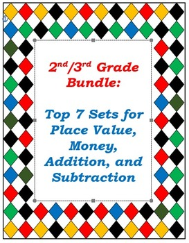 Top Seller Bundle: 2nd & 3rd Grade Math Activities and Games