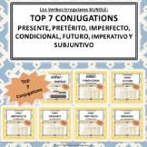 Top Seven Conjugations Bundle: estar Google Slides™ Conjug