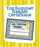 Top Summer Reader Certificate