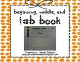 Top Tab Book Beginning, Middle, End FREEBIE