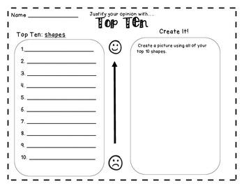 Top Ten Balanced Literacy Center Higher Order Thinking First Second Grade
