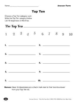 Top Ten (Creating a List)