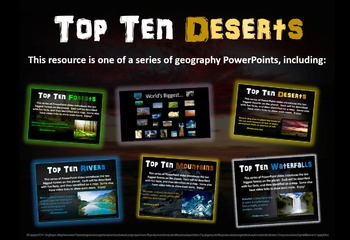 Top Ten Deserts: engaging PPT with info, links, graphic or