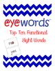 Top Ten Functional Sight Words - Eyewords
