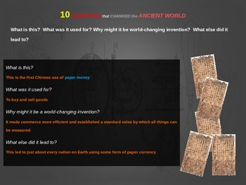 Top Ten Inventions from Ancient History: Engaging PPT with handouts & more