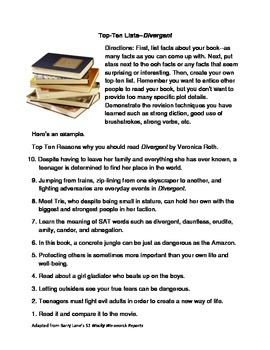 Top Ten Lists--Divergent
