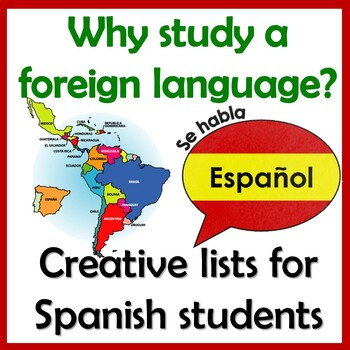 Top Ten List - Reasons To Learn Another Language - Benefits - Spanish & English