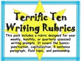 Writing Rubrics K-2 Pack