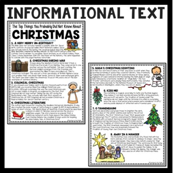 Top Things You Probably Did Not Know About Christmas article & questions