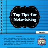 FREEBIE Top Tips for Note-taking