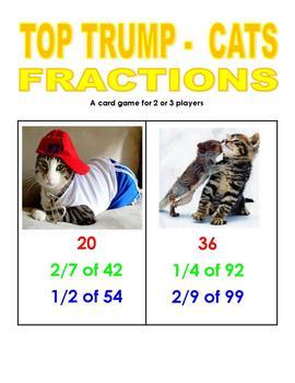 Top Trump Cats - Fractions