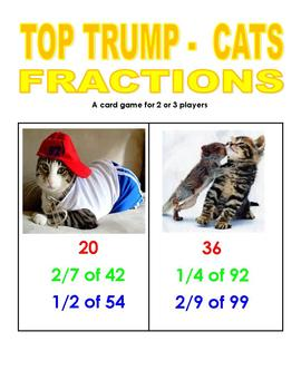 Top Trump Cats - Fractions