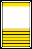 Top Trump style blank template for reward cards