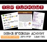 Top Turkey!- A Thanksgiving Digital Breakout
