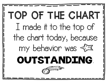Top of the Chart Clip Chart Certificates (Out of This World Behavior Theme)